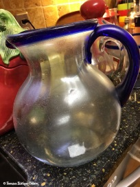 Cloudy margarita pitcher...