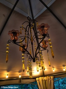 Amber chandelier - found for $11