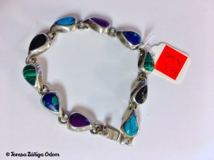 Mexican silver cabochon bracelet for $9.99 at the thrift store. A great find!