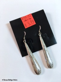 Long silver earrings...love the detail in these!
