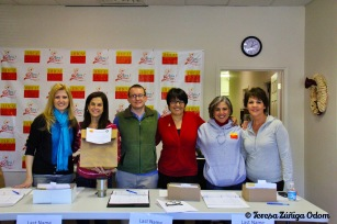 HICA board members during pick up day 2012 - Vivian Mora, Joyce Spielberger, RG Lyons, Liliana Salas-Grip, ED Isabel Rubio and me.