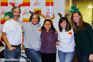 HICA Staff in their Christmas antlers!