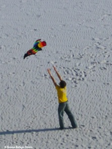 Charlie flying the kite