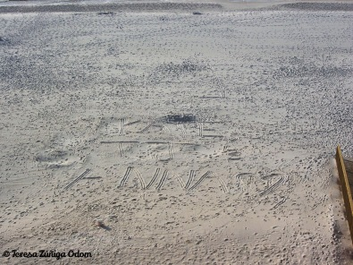 Writing in the sand...