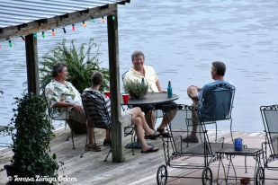 Sept 2008 - The guys catching up on the dock