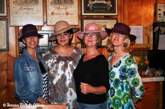 2008 - the girls...after an afternoon at the auction! Karen bought these hats!