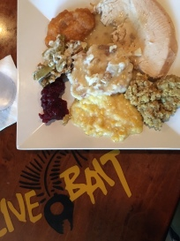 Traditional Thanksgiving dinner at Live Bait!