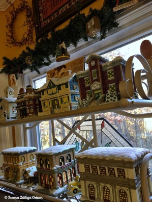 My It's a Wonderful Life Village graces my kitchen bakers rack every Christmas.