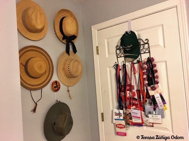 "Even behind the door is being used. I save all the lanyards I've worn over the years. I also like hanging my hats and this was the perfect ""out of the way"" spot for that!"