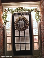 Finished product - new door decor in gold and silver!