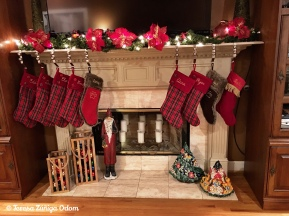The stockings were hung by the chimney with care! Second year to have family stocking on the fireplace!