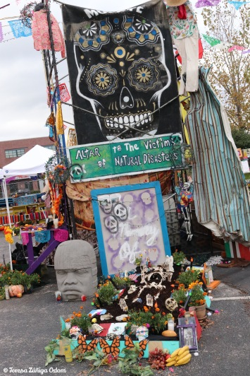 Altar to the victims of natural disasters this year