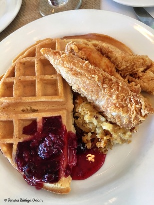Chicken and Waffles for brunch!