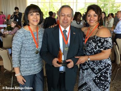 Me and Theresa DeLeon with winner, Jairo Vargas of Latino news