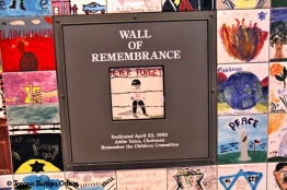 The Wall of Remembrance - tiles created by children in memory of the children lost to the Holocaust