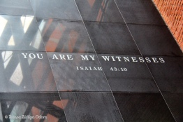 You are My Witness - seen as you walk into the museum