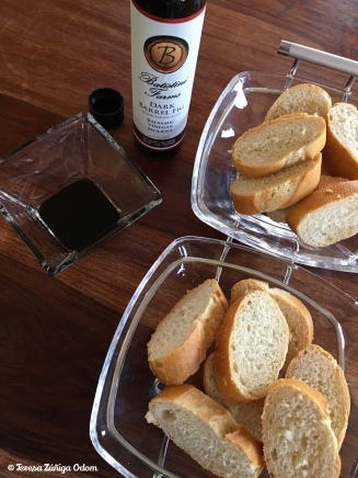 French bread with fig balsamic vinegar