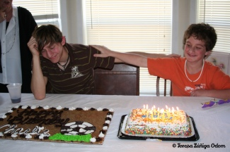 Charlie and Jonathan celebrating their March birthdays!