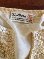 Kung Brothers Hong Kong beaded sweater circa 1950s