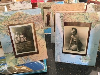 Photo on the left is mom with her parents as a young girl. Photo on the right is mom when she did some modeling.