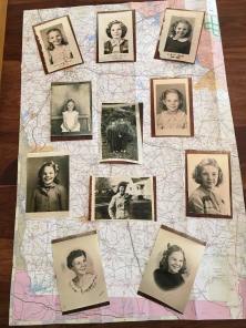 Photo collage of mom's younger years.