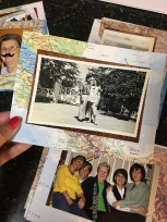 Photo of mom and dad while she was pregnant with me in Bangkok, Thailand. Color photo is of me, my sisters and mom in 2009.