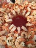 Poached shrimp with lemongrass and cilantro