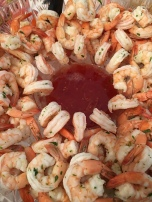 Poached shrimp with lemongrass and cilantro