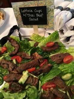 Lettuce cups with Thai beef salad