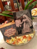 Closer look at the wedding photo centerpiece
