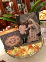 Closer look at the wedding photo centerpiece