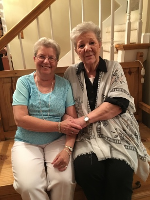 Mom with her dear friend, Jenine