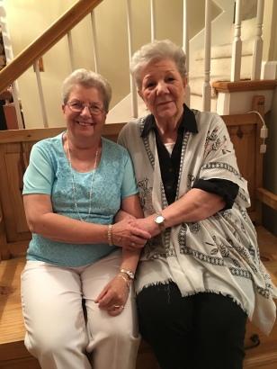 Mom with her dear friend, Jenine