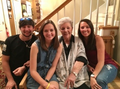 Mom and her Alabama grandchildren - Charlie, Emily and Anna Marie