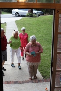 Mom's neighbors arrive