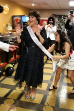 Getting my sash!