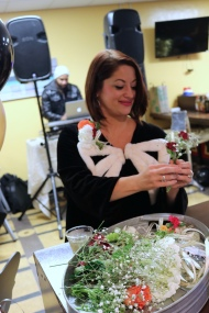 Denise created beautiful corsages for all my party guests!