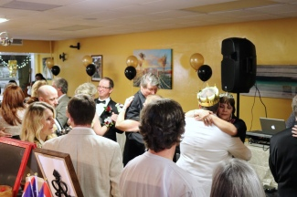 My guests join in for the first dance...