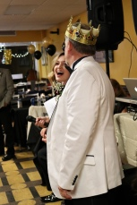 Emily serves as MC during the prom king and queen coronation