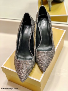 "The Michael Kors silver ""shiny"" shoes I lucked up on at Belk!"