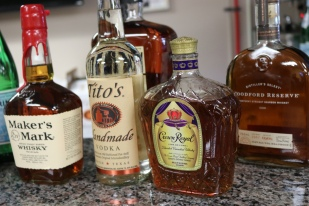 Eddie decided to provide a few bottles of bourbon for the gang.