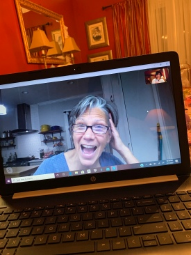 Skyping with my baby sister is always fun - we pour up a glass of wine and dive in for several hours.