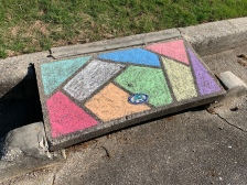 We saw a lot of chalk art in our neighborhood during our walks for several weeks. Loved seeing the positive messages.