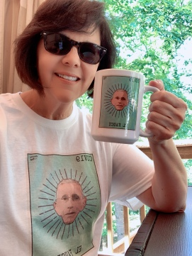 I've been supporting small business by buying online. This t-shirt and mug is by Pinche Raf, an artist in Texas