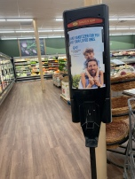 Speaking of hand sanitizer, Piggly Wiggly has these hand sanitizer stations all over their store downtown sponsored by Blue Cross Blue Shield