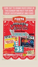 Our feature movies during October at the drive in