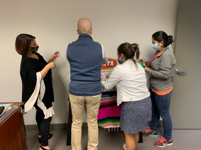 Creating a Fiesta scholarship backdrop in a matter of minutes for our Facebook live announcement on Oct 15!