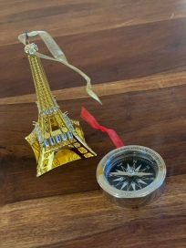 Eiffel Tower and Compass to commemorate retirement and travel this year.