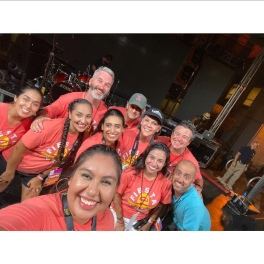 My absolute favorite photo from Fiesta 2019! The entire Fiesta board on stage for a selfie at the end of Fiesta! We are all exhausted but still beaming from the success of the event that day.