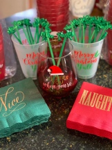Naughty and Nice napkins